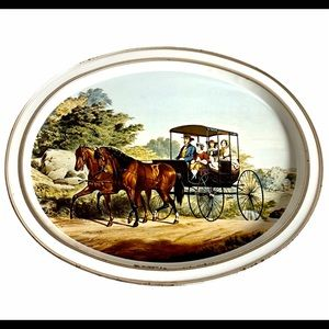 Vintage Currier and Ives The Morning Ride Platter